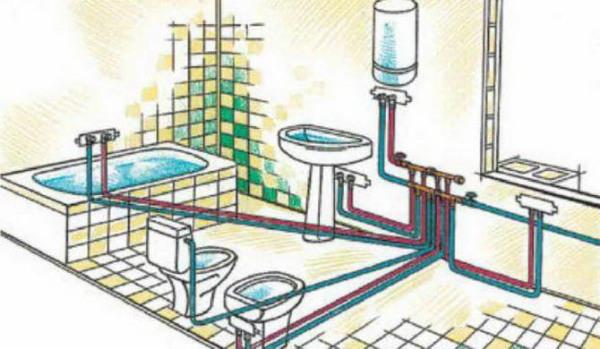 Внутренняя арматура и потребители водопровода.