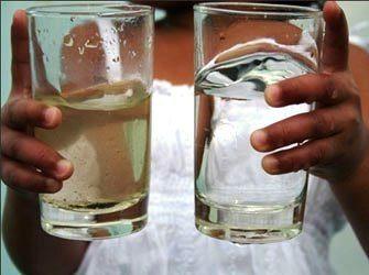 Вода до и после фильтрации
