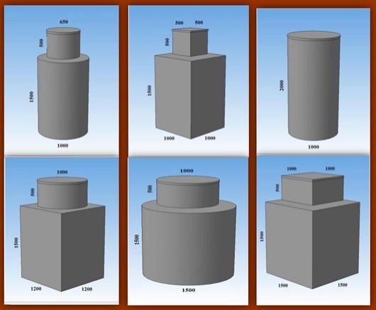 Вы можете подобрать конфигурацию кессона в соответствии с особенностями вашего проекта